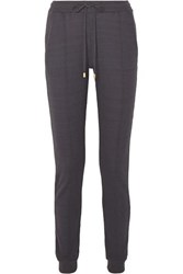 Hanro Easy Wear Cotton Blend Jersey Track Pants Charcoal
