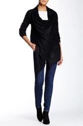 Fate Fringe Trim Sweater Black