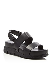 Cole Haan Zerogrand Platform Lug Sole Sandals Black