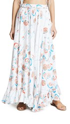 All Things Mochi Lilia Skirt White Red Shell
