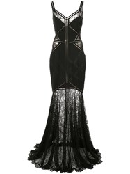 Tadashi Shoji Lace Embroidered Maxi Dress Black