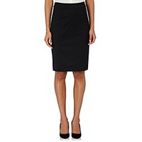 Barneys New York Women's Twill Pencil Skirt Black Blue Black Blue