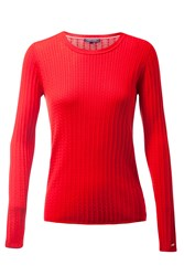 Tommy Hilfiger Erca Mini Cable Sweater Red