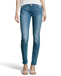 7 For All Mankind Gwenevere Skinny Jeans Bright Sky Blue