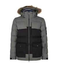 Pyrenex Flannel Mix Fur Trim Ski Jacket Male Grey