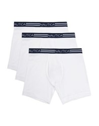 Nautica Three Pack Basic Cotton Boxer Briefs Peacoat