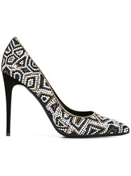 Salvatore Ferragamo Patterned Court Shoes Black