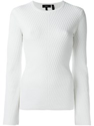 Theory Long Sleeve Knitted Blouse Nude And Neutrals
