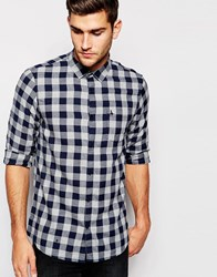Jack Wills Shirt In Blue Flannel Check Bluecheck