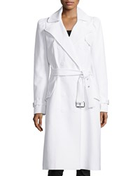 Michael Kors Double Breasted Trench Coat Optic White