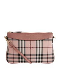 Burberry Peyton Horseferry Check Clutch Bag Female Pink