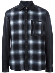 Drome Plaid Front Shirt Black