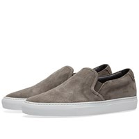 Common Projects Slip On Waxed Suede Grey