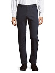 Perry Ellis Dobby Flat Front Style Pants Insignia Blue