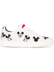 Moa Master Of Arts Mikey Mouse Embroidered Sneakers White