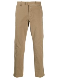Closed Straight Leg Chino Trousers Brown