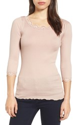 Rosemunde Women's Babette Lace Trim Top Vintage Powder