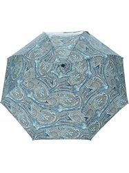 Etro Floral Print Umbrella Black