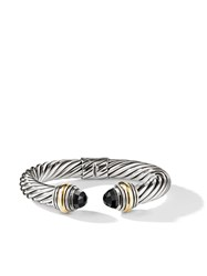 David Yurman Cable Classics 14Kt Yellow Gold Detailed And Onyx 10Mm S4abo
