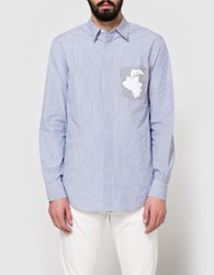 3.1 Phillip Lim Ls Classic Bb With Floral Embroidery Blue