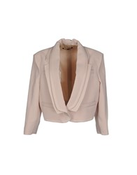 Mangano Suits And Jackets Blazers Women Beige
