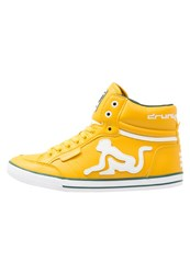 Drunknmunky Boston Classic Hightop Trainers Mustard Yellow