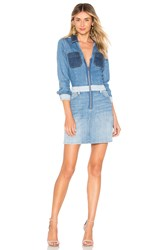 7 For All Mankind Workwear Dress Patchwork Sunrise