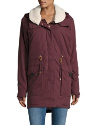 Bench Relator Fleece Trimmed Parka Dark Red