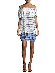 Beach Lunch Lounge Popover Off The Shoulder Dress Ink Blue