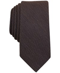 Bar Iii Men's Knit Solid Slim Tie Only At Macy's Taupe