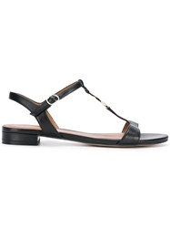 Emporio Armani Logo Coin Sandals Black