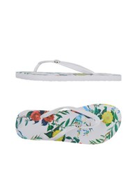 Armani Jeans Footwear Thong Sandals Women White