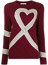 Chinti And Parker Heart Motif Knitted Jumper 60