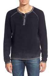 Men's Tailor Vintage Waffle Knit Henley Sweater