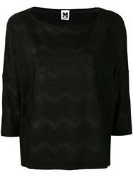 M Missoni Jersey T Shirt Women Cotton Viscose Metallic Fibre S Black