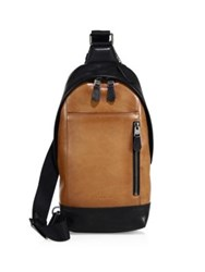 Coach Manhattan Sport Calfskin Leather Backpack Saddle