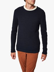 Selected Homme Organic Cotton Knitted Jumper Blue