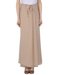 Gotha Long Skirts Beige