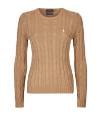 Polo Ralph Lauren Julianna Cable Knit Sweater Female Brown