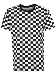 A La Garconne Checked T Shirt Cotton Black