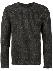 Theory Crew Neck Jumper Grey