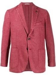 Gabriele Pasini Patch Pocket Blazer Red