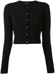 Roberto Collina Cropped Cardigan Women Polyester Viscose S Black
