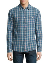 Faherty Seasons Plaid Long Sleeve Shirt Multi