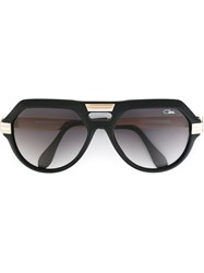 Cazal '657' Aviator Sunglasses Black