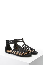 Forever 21 Caged Faux Suede Sandals
