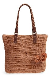 Tommy Bahama Mama Straw Tote Brown Toffee