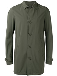 Herno Buttoned Short Coat Green