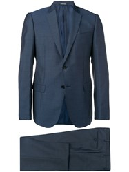 Emporio Armani Slim Fit Two Piece Suit Blue