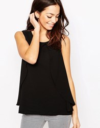 Only Overlay Shell Top Black Navy